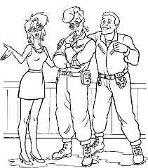 Small Picture Ghostbusters Coloring Pages