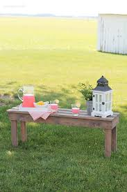add extra seating with this beautiful and easy diy outdoor bench