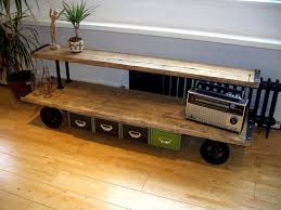 industrial media furniture. combination of rustic quality and style vintage industrial media console furniture