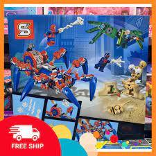 Đồ chơi xếp hình lắp ghép siêu nhân người Nhện Spider man SY1264 - Thế giới đồ  chơi 8888
