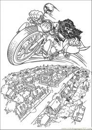Small Picture Hagrid Rides Flying Motorcycle Coloring Page Free Harry Potter