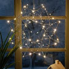 Star Led Leuchtstern Modern Christmas 38x38x7 Cm Metall Chrom