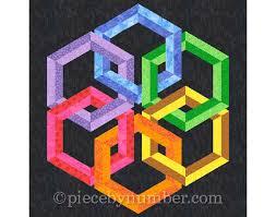Hexadaisy quilt block pattern paper pieced quilt patterns & 🔎zoom Adamdwight.com