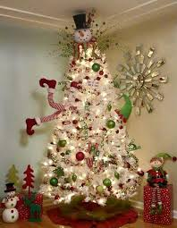 Decorating Christmas Tree With Balls White Christmas Tree With Green Red Balls Looks Like Elf Going 91