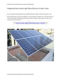 Automated Solar Street Light System Ppt Ppt Integrated Solar Street Light Manufacturer In Delhi