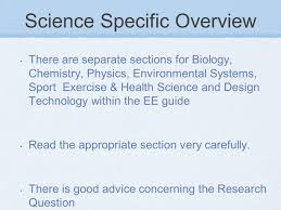 group extended essays an introduction a group extended essay science specific overview there are separate sections for biology chemistry physics environmental systems