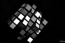 hd wallpaper mirror cube white black