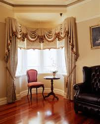 Living Room Curtain For Bay Windows Custom Luxury Drapery For Large Bay Window This Very Formal