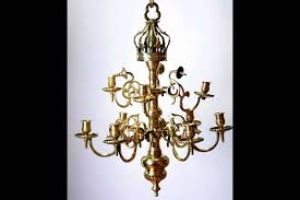 chandelier with a bronze key nine lights germany xviith century