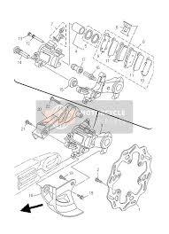 yamaha yz250f 2007 spare parts msp rear brake caliper · click to view · rear brake caliper for 2007 yamaha yz250f