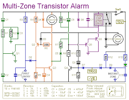 multi zone transistor based burglar alarm circuit diagram a circuit diagram for a transistor based burglar alarm system