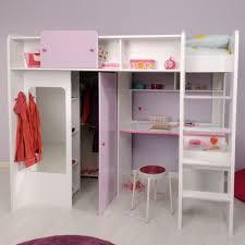 Mädchenzimmer Hochbett weiß lila Jasmina | Kinderbetten ...