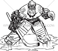 Goalie Drawing At Getdrawingscom Free For Personal Use Goalie