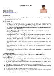 Sample resume for engineering technician