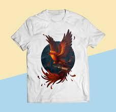 T Shirt Design Phoenix Laurice Plando Phoenix Reborn T Shirt Design