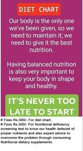 Daily Diet Chart For Good Health Diet Plan And Nutrition Consultant