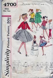 Barbie Doll Clothes Patterns Mesmerizing Simplicity 48 Barbie Doll Clothes Dress Jacket Vintage 48's