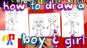 how to draw a boy and a
