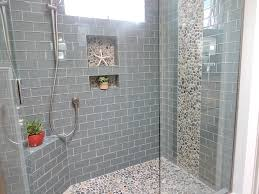 glass window with bathroom shower tile ideas for modern bathroom decoration plus rain shower and tile