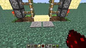 a sliding glass door in minecraft
