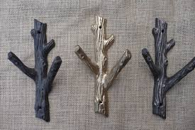 Branch Wall Coat Rack Amazing Rustic Tree Branch Wall Hook Cast Iron Metal Or Gold Coat Rack