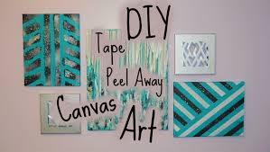 Canvas Art Tape Peel Away Diy Canvas Art Youtube