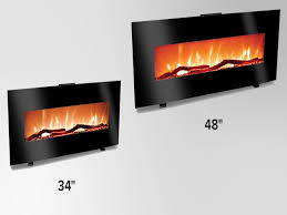 grand aspirations 48 harrison flat linear fireplace in black at menards
