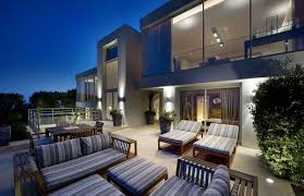 outdoor terrace lighting. Villa On The Cap Ferrat Cote D39azur France Outdoor Terrace Lighting