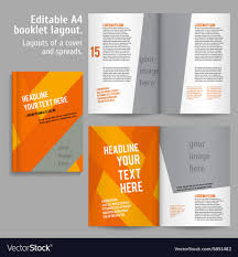 Design Spreads A4 Book Layout Design Template