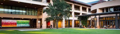 stanford graduate school of business. dusk on stanford gsb campus. graduate school of business e