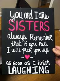 Funny Sibling Quotes Stunning Black Canvas With Funny Sisters Quote By Heartofacanvas On Etsy