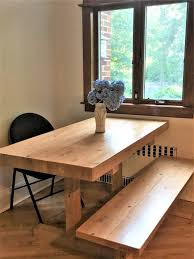 butcher block dining table. Custom Made Rustic Farmhouse Trestle Farm Butcher Block Style Dining Table D