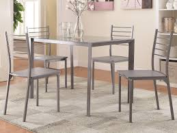 100027 transitional glass bar height table and chair set