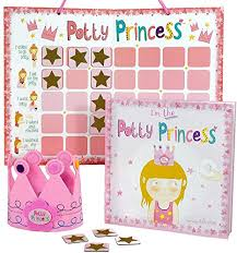 Potty Training Chart For Girls Princess Potty Training Gift Set With Book Potty Chart Star Magnets And Reward Crown For Toddler Girls Comes In Castle Gift Box