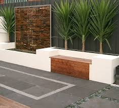 Small Picture Bench seat along housebrick wall Love this water feature along
