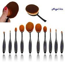 angel kiss best makeup brushes set 2016 professional 10 pcs soft oval toothbrush makeup brush