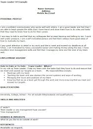 team leader cv examples team leader cv example icover org uk
