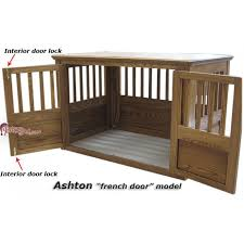 dog crates furniture style. ashton wood dog crate french door details crates furniture style e