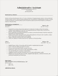 Sample Profile Resume Resume Sample With Skills Valid Resume Samples Skills Profile Resume