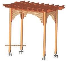 garden arbor plans. garden wooden arbor with lattice plan plans