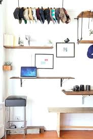 wall hat rack hat rack desk ideas home office eclectic with floating desk white wall hat wall hat rack