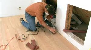 laying down laminate flooring on concrete vinyl