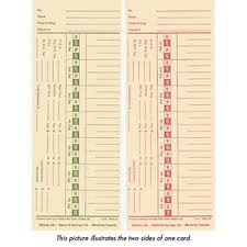 Time Cards Double Sided Weekly Or Bi Weekly Central Restaurant