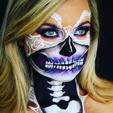 bridal skull y skeleton makeup ideas you should wear this