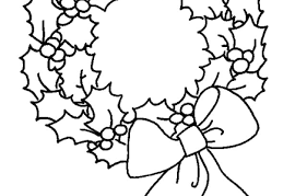 Christmas Wreath Coloring Pages Happy Holidays