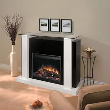 charming black dimplex electric fireplaces with decorative mantel kit before the gray wall matched with wooden