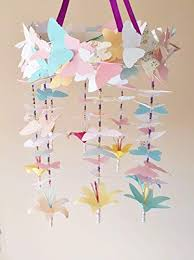 Paper Flower Mobiles Amazon Com Baby Nursery Mobile Decor Butterflies And