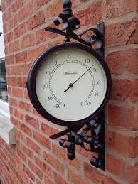 outside wall clocks garden and outdoor garden large wall station clock temperature swivels cm
