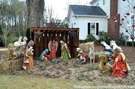outdoor manger for nativity set 9 piece 5