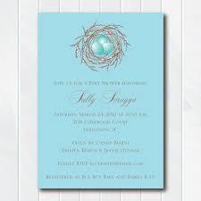 Invitation Downloads Gorgeous Baby Bird Blue Shower Invite Bird Baby Shower Theme Boy Bird's